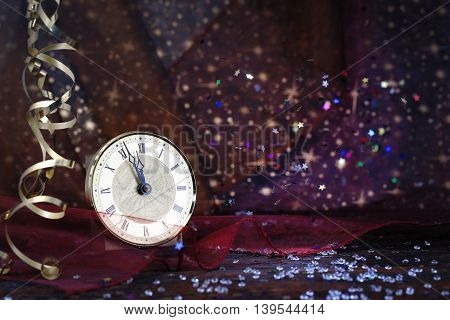Happy New Year 2017 on abstract background
