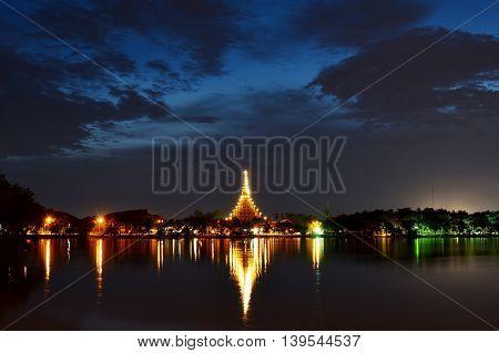 phra mahathat kaen nakhon temple in Twilight Time