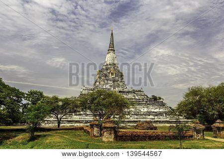Wat Phu Khao Thong temple in Ayutthaya