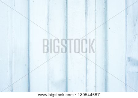 Old White Metal Ripple Sheet Wall, Texture Background.