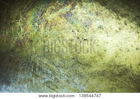 Brass plate texture old metal background. abstract