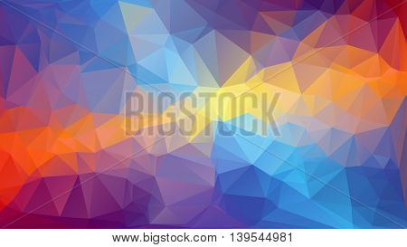 abstract background consisting of triangles . Vector illustration