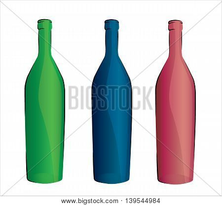 Design set of bottles . eps10 vector illustration