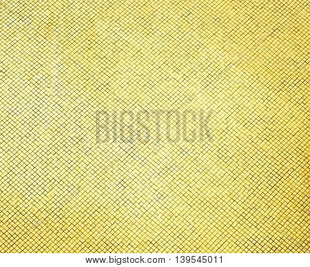 Glossy Gold Mosaic Tile Wall, Texture Background