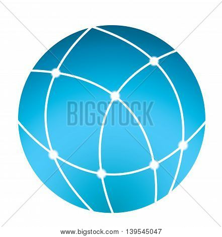 globe icon - vector business logo. eps10 vector illustration
