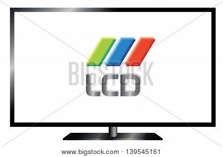 LSD electronics TV screen . eps10 vector illustration