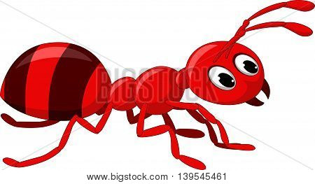 red ant cartoon posing for you design