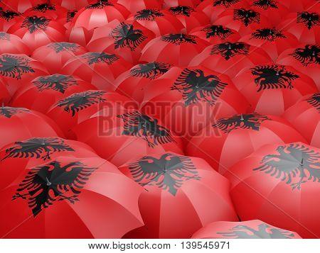 Umbrellas With Flag Of Albania