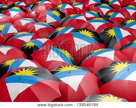 Umbrellas With Flag Of Antigua And Barbuda