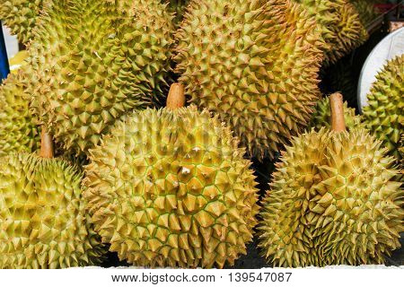 Delicious Durian fruit Thai in the market