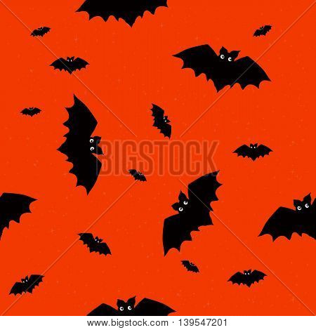 Seamless pattern with funny bats for Halloween