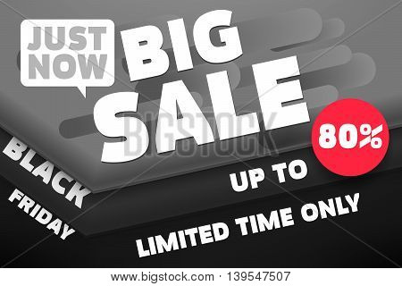 Black Friday Big Sale. Black Friday Banner Template