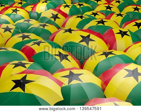 Umbrellas With Flag Of Ghana