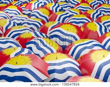 Umbrellas With Flag Of Kiribati