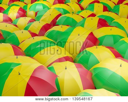Umbrellas With Flag Of Mali