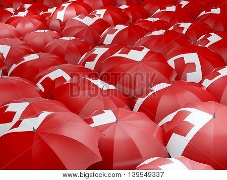 Umbrellas With Flag Of Tonga
