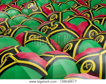 Umbrellas With Flag Of Vanuatu