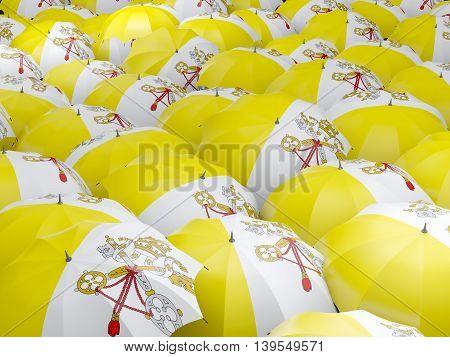 Umbrellas With Flag Of Vatican City