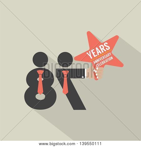 87th Years Anniversary Typography Design Vector Illustration. EPS 10