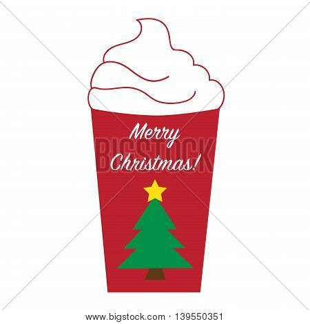 Merry Christmas Holiday Coffee with Star Tree