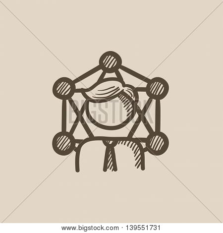 Online business vector sketch icon isolated on background. Hand drawn Online business icon. Online business sketch icon for infographic, website or app.