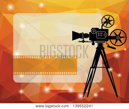 Abstract cinema background with space for text, vector illustration