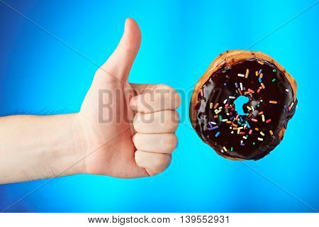 Donut And Thumb Up