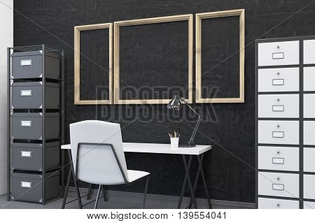 Clean Working Place At Modern Office