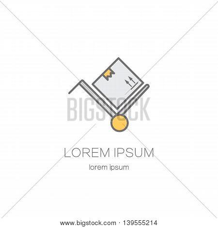 Cargo shipping boxes logotype design templates. Modern easy to edit logo template. Vector design series.