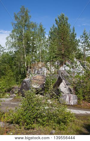 Republic of Karelia. Mountain park