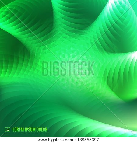 futuristic abstract green color 3d fractal fantasy background