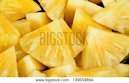 Slice Of Pineapple For Background Texture