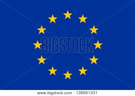 Original And Official Flag Of Europe (eu), Close Up