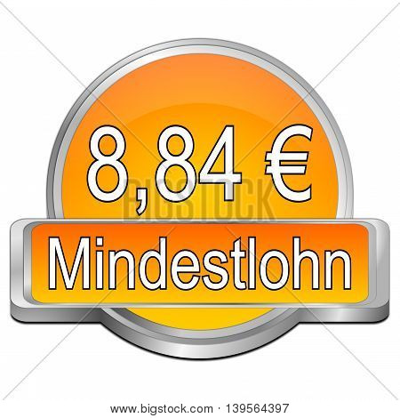 8,84 Euro minimum wage - in german - 3D illustration