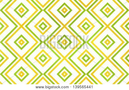 Geometrical Pattern In Lime And Yellow Colors.