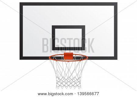 Basketball hoop. Vector illustration isolated on white background.
