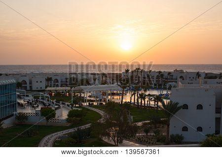 Rest at the hotel Egyptian landscape summer