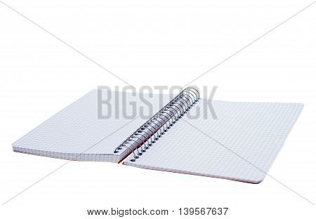 notebook sketchbook, design, school, paper on white background