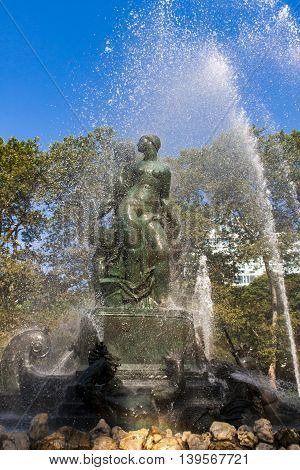 Bailey Fountain In New York City