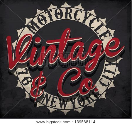 Motorcycle typography; t-shirt graphics; vectors fashion style
