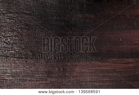 Background Pattern Dark Brown Wooden Grain Texture with Copy Space for Text Decorated.