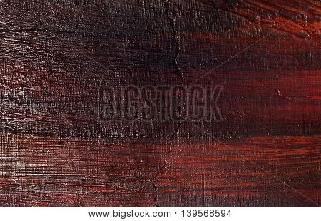 Background Pattern Dark Brown Crack Wooden Texture with Copy Space for Text Decorated.