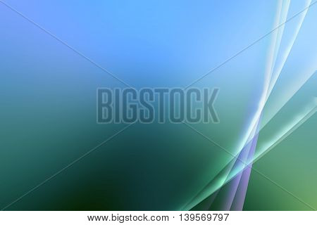 Simplistic abstract Blue and Green Aurora design