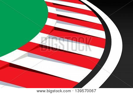 racing track. Vector concept illustration for design.
