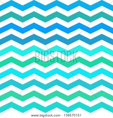 Chevron Zigzag seamless pattern. Vector pblue, geen mint and white colors pattern. Seamless texture for girly design