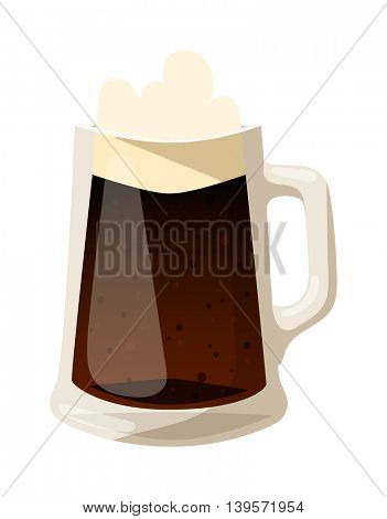 Beer cup glass vector illustration.