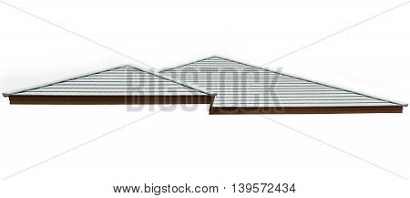 building construction roof concrete Isolated on white background