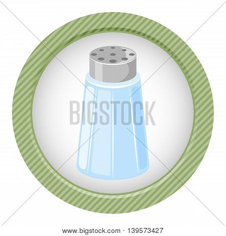 Salt shaker cartoon icon. Vector illustration in cartoon style