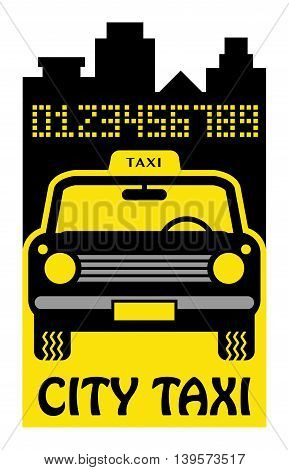 Taxi abstract sign or symbol, vector illustration