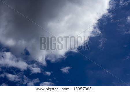 Big white clouds on blue sky backgroud